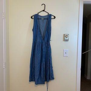 Gap Denim Wrap Dress - M